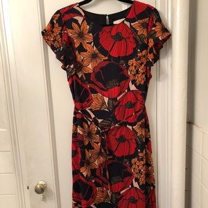 Loft Floral Shift Dress, Size Small